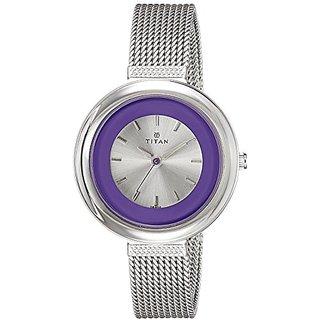 Titan Purple Analog Purple Dial Womens Watch - 2482SM01-DB956