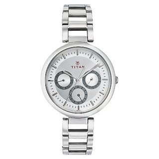 Titan Youth Analog Silver Dial Womens Watch -NK2480SM03