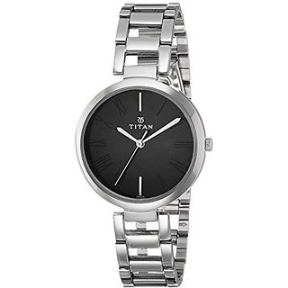 Titan Youth Analog Black Dial Womens Watch -NK2480SM02