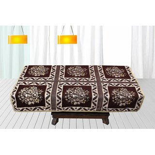 Buy Furnishing Zone Floral 4 Seater Table Cover Multicolor Velvet