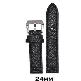 Kolet 24mm Dotted Leather Watch Strap (Black)