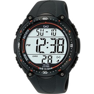 Q&Q Standard Dual Time Digital White Dial Mens Watch M010-001