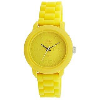 Q&Q Regular Analog Yellow Dial Mens Watch - VR08J007Y