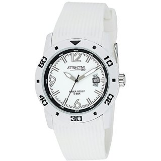 QQ Analog White Dial Mens Watch - DB02J001Y