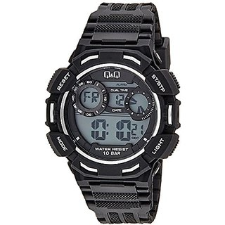 Q&Q Digital Grey Dial Mens Watches - M148J004Y