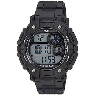 Q&Q Digital Grey Dial Mens Watches - M150J003Y