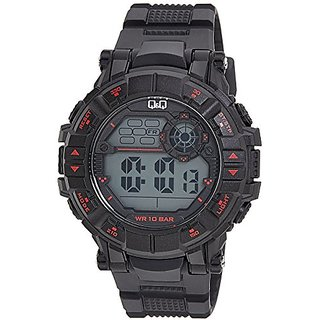 Q&Q Digital Grey Dial Mens Watches - M152J001Y