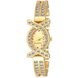 ONS Oval Dial American Diamond Watch For Women