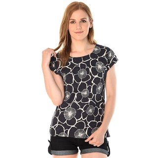 Kotty Women's Black Printed Top