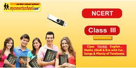 Class Third (III Rd) -CBSE/NCERT .USB Pen Drive Course-
