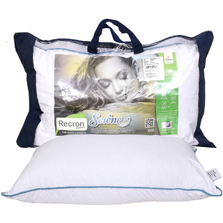Recron Certified Serene Pillow Size  17X27 inch (Pack of 1)