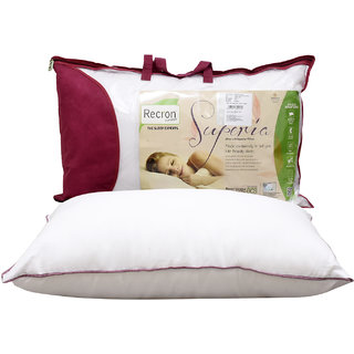 Recron Certified Superia Pillow Size  17X27 inch (Pack of 1)