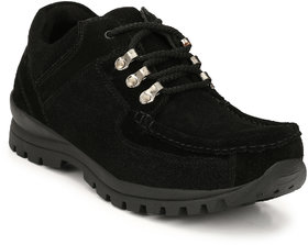 Knoos Men's Black Leather Casual Boots
