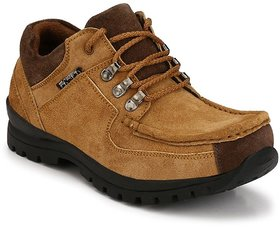 Knoos Men's Tan Leather Lace-up Casual Boots