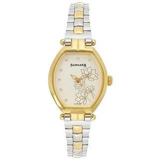 Sonata Wedding Analog Silver Dial Womens Watch - 8083BM01