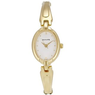 Sonata Bracelet Analog White Dial Womens Watch - ND8048YM01