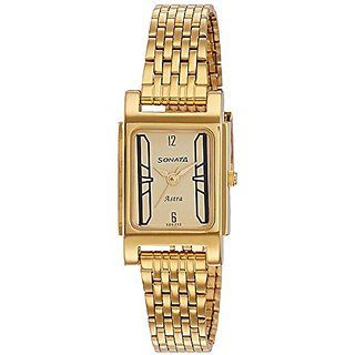 Sonata Analog Champagne Dial Womens Watch-87021YM04J