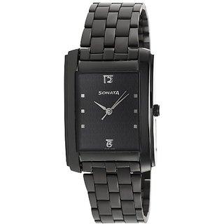 Sonata Analog Black Dial Mens Watch - 7953NM01J