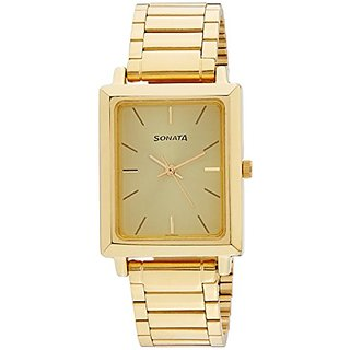 Sonata Analog Gold Dial Mens Watch - NE7078YM02C