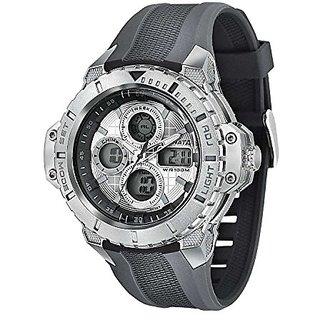 Sonata Analog-Digital Silver Dial Mens Watch-77044PP05
