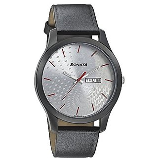 Sonata Analog Black Dial Mens Watch-77063NL02