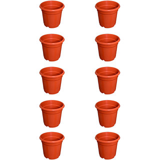 Flower Pots 8 inch Set of 10, Plant Container ( External Height - 20 cm)