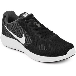 Nike MenS Revolution 3 Black Running Shoes