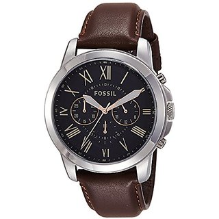 Buy Fossil Grant Chronograph Black Dial Mens Watch - FS4813I Online ... a8d2ff3c12