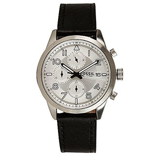 Fossil Chronograph Silver Dial Mens Watch-FS5136