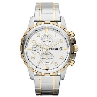 Fossil Chronograph Silver Dial Mens Watch -Fs4795