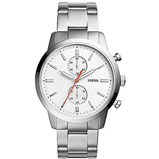 Fossil Analog White Dial Mens Watch-FS5346