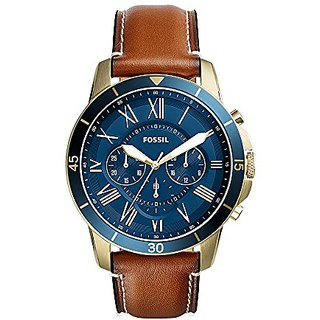 Fossil Analog Blue Dial Mens Watch-FS5268