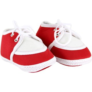 Neska Moda Baby Boys and Girls Lace Red Booties For 0 To 12 Months Infants SK135
