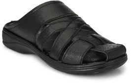 Knoos Men's Black Sandals