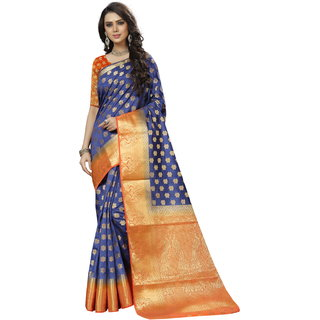 Fab Brand Multi Colour Banarasi Silk Saree
