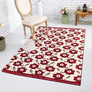 Manvi Creations Cotton Designer Carpet For Living Room ( 5 Feet X 7 feet)