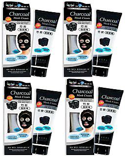 Charcoal Mask Cream For Blackheads  Dead skin Pack Of 4