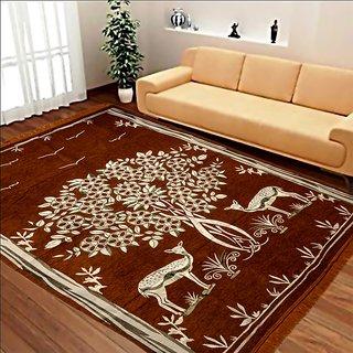 Manvi Creations Cotton Designer Carpet For Living Room ( 5 Feet X 7 feet)