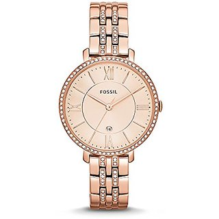 Fossil Jacqueline Analog Pink Dial Womens Watch -ES3546