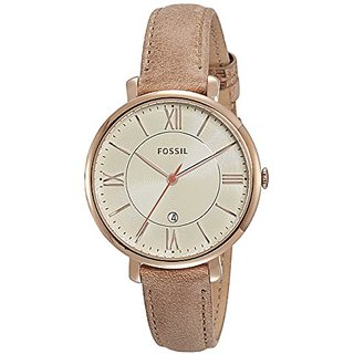 Fossil Jacqueline Analog Beige Dial Womens Watch - ES3487I