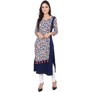 Fabster Women's smart fit  straight multi Colour Kurti