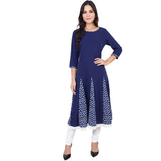 Fabster Women's smart fit  flaired BLUE  Kurti
