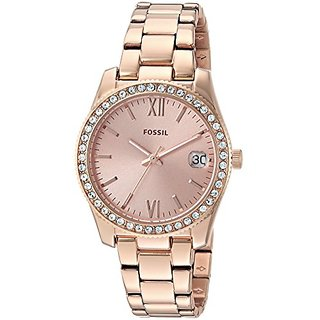 Fossil Analog Rose Gold Dial Womens Watch-ES4318