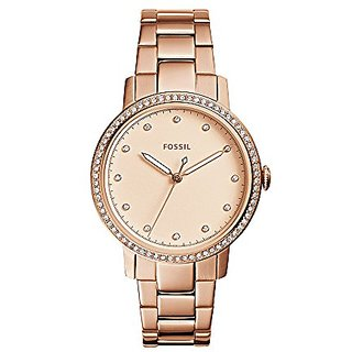 Fossil Analog Rose Gold Dial Womens Watch-ES4288