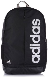 Adidas Black & White Polyester Backpack