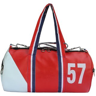 09c402e353 Buy Numeric 57 Leather Rite Gym Bag Red White Online - Get 43% Off