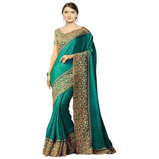 Designer Bahu Green Color Paper Silk Designer Saree