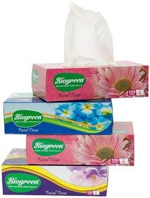 Biogreen Facial Tissue (pack of 4)