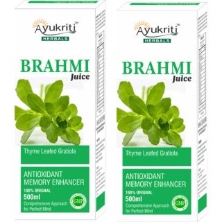 Brahmi Juice Antioxidant Memory Enhancer (Pack of 2)