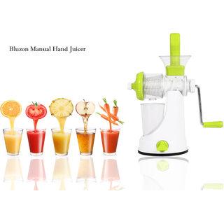 Bluzon Premium Manual Hand Juicer For Fruits  Vegetable (Green  White)